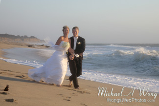 California Beach Wedding Couple