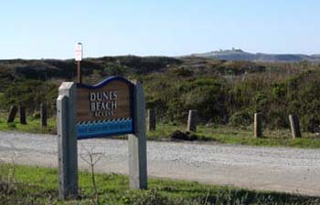 Dunes Beach California State Beach Sign