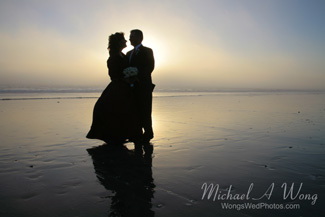 California Beach Wedding Couple Sunset